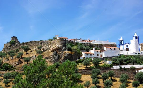 пейзаж деревне Португалия регион дороги деревья Сток-фото © inaquim