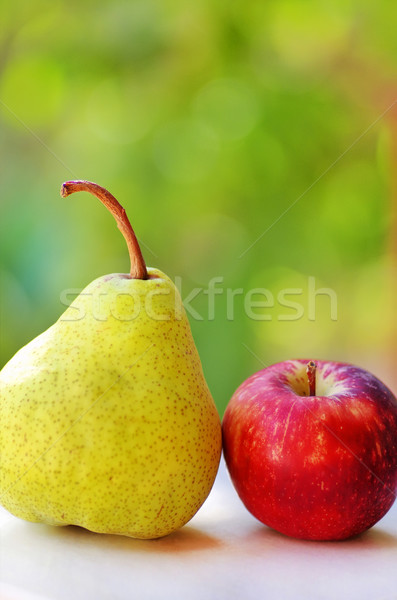 Ripe pear and red apple Stock photo © inaquim