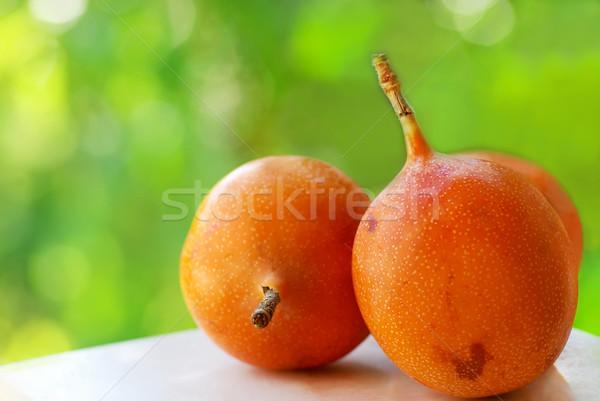 Tropikal meyve meyve sağlık arka plan turuncu taze Stok fotoğraf © inaquim