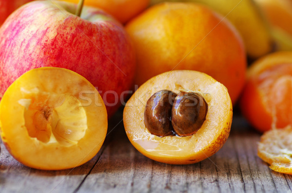 Half of ripe loquat medlar Stock photo © inaquim