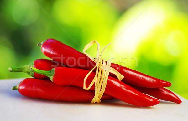 Kırmızı sıcak halat gıda arka plan Stok fotoğraf © inaquim
