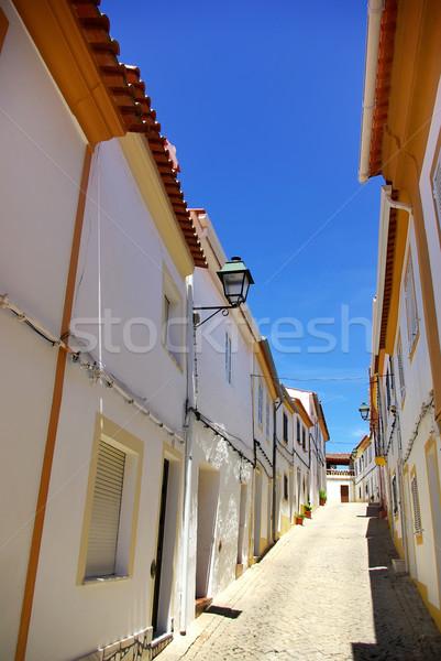Ulicy w. Portugalia niebo drzwi okno Zdjęcia stock © inaquim