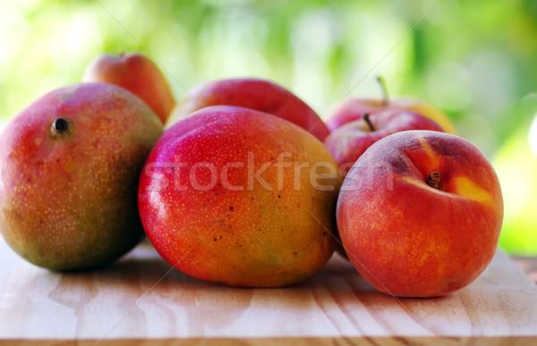 персика манго плодов продовольствие фрукты фон Сток-фото © inaquim