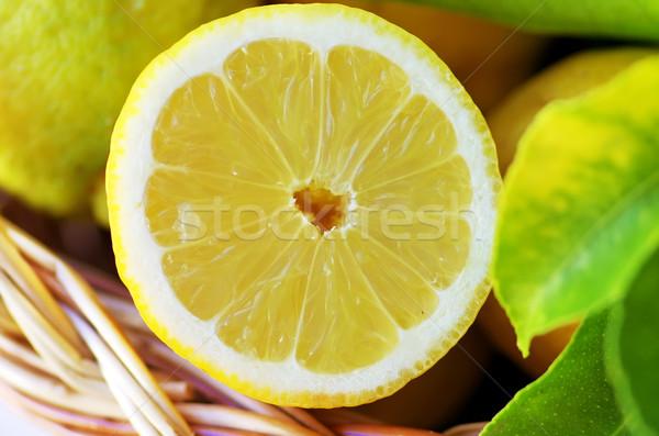 Fatia maduro limão saúde verde Foto stock © inaquim