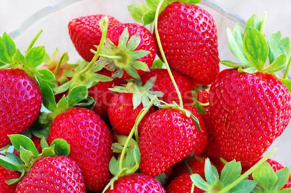 клубники ягодные стекла Кубок продовольствие фрукты Сток-фото © inaquim