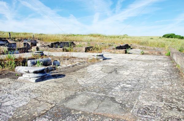 Ruinas Villa Portugal resumen diseno piedra Foto stock © inaquim
