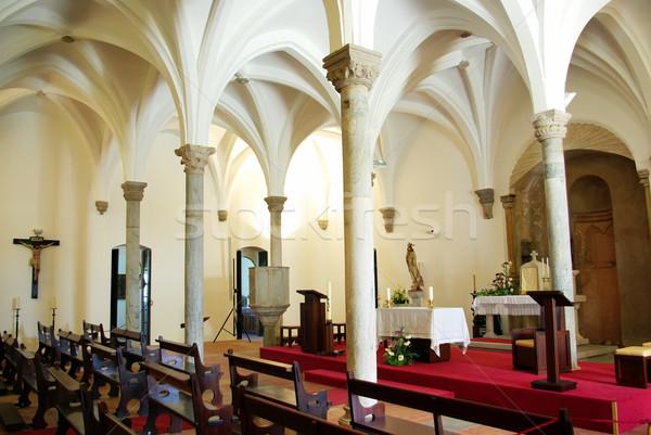 Iç kilise Portekiz Bina duvar pencere Stok fotoğraf © inaquim
