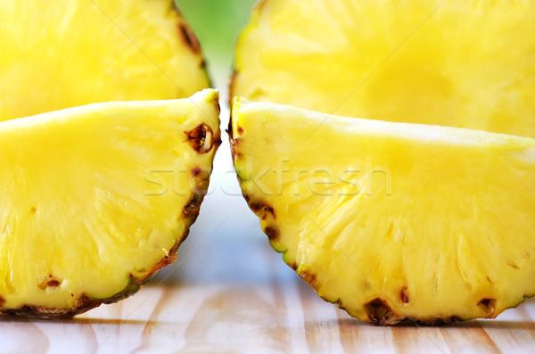 Closeup of pineapple slices  Stock photo © inaquim