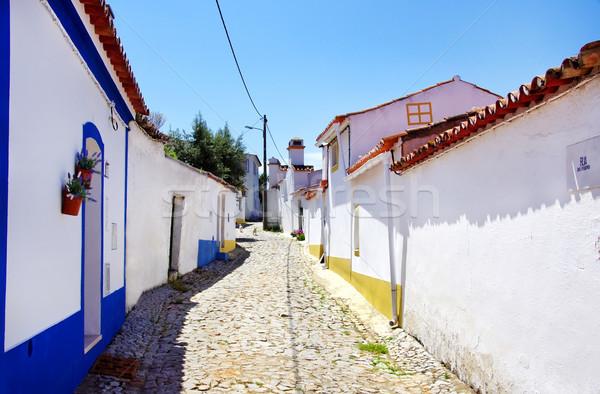 Rua aldeia sul Portugal edifício parede Foto stock © inaquim
