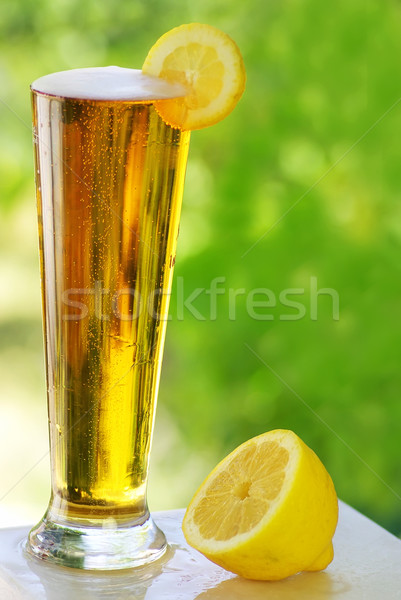 cold beer and lemon.  Stock photo © inaquim