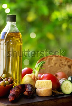 Bread and olives. Stock photo © inaquim