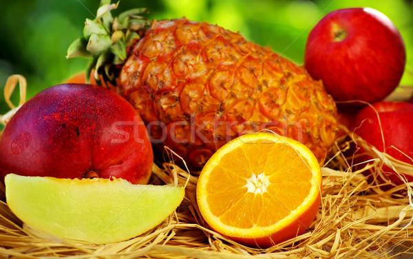 Frutas verde textura fruto verão grupo Foto stock © inaquim
