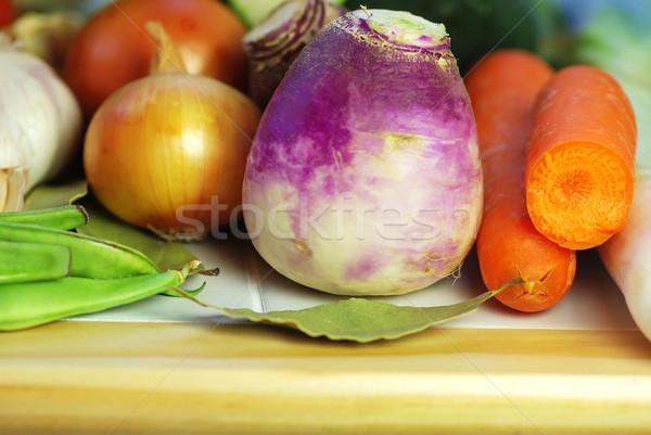 Vegetal ingredientes cozinha mediterrânea folha fruto cozinha Foto stock © inaquim