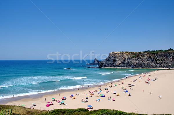 Praia aldeia Portugal céu água natureza Foto stock © inaquim