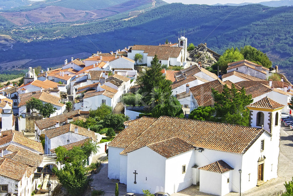 Landscape of Marvao,old village, Portugal. Stock photo © inaquim