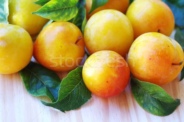 yellow plums on table Stock photo © inaquim