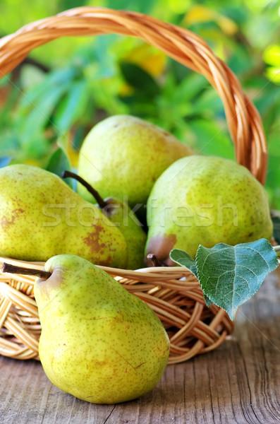 梨 バスケット 食品 リンゴ 表 ストックフォト © inaquim