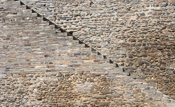 Texture of stone stairway in castle Stock photo © inaquim