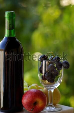 красный плодов вечеринка природы лист Сток-фото © inaquim