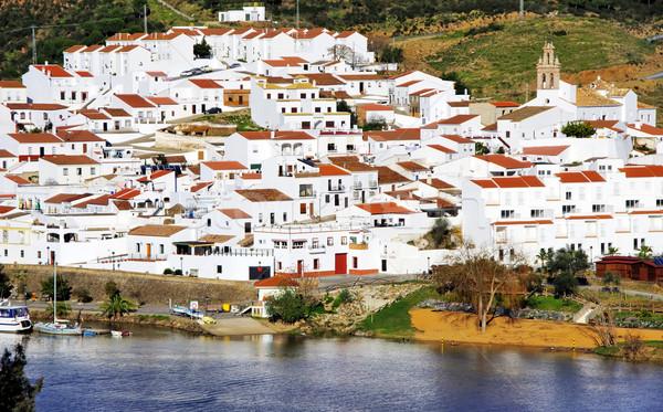 Espanhol aldeia céu verão azul castelo Foto stock © inaquim