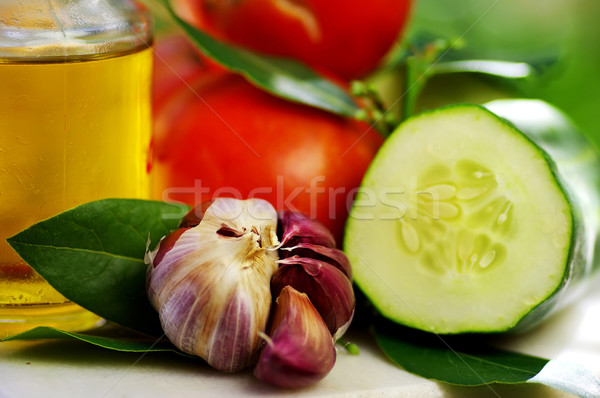 Olive oil and vegetables Stock photo © inaquim
