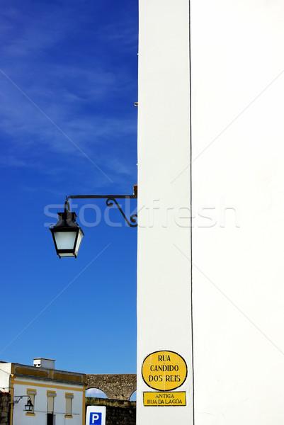 Lanterna parede rua casa verão vida Foto stock © inaquim