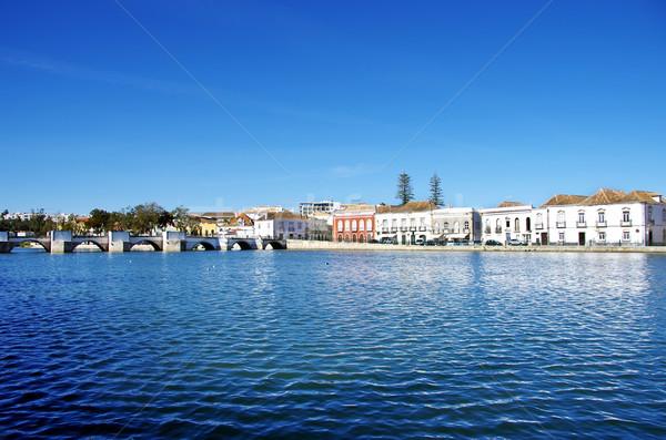 şehir Portekiz manzara gökyüzü Bina güzellik Stok fotoğraf © inaquim