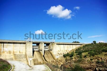 Wall of portuguese dam. Stock photo © inaquim