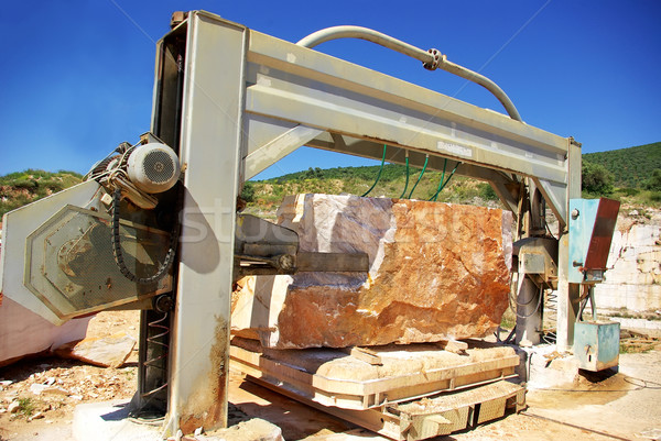 Machinery in quarry of marble extraction. Stock photo © inaquim