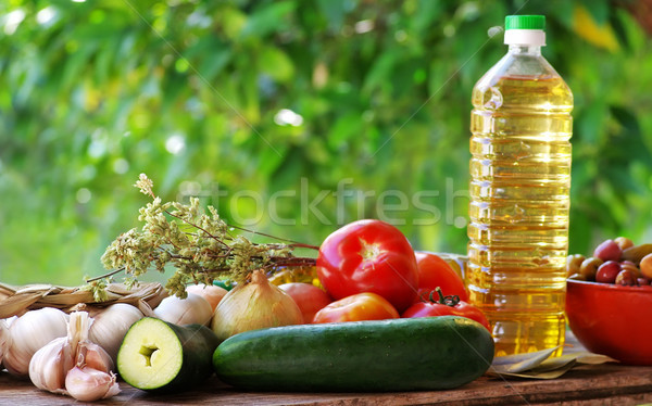 Ingredients of mediterranean cuisine Stock photo © inaquim