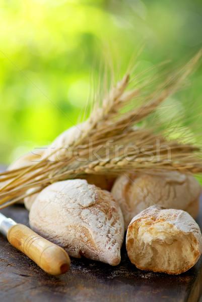 Stockfoto: Brood · tarwe · volwassen · achtergrond · diner · mais