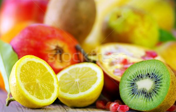 キウイ レモン 果物 食品 木材 ストックフォト © inaquim