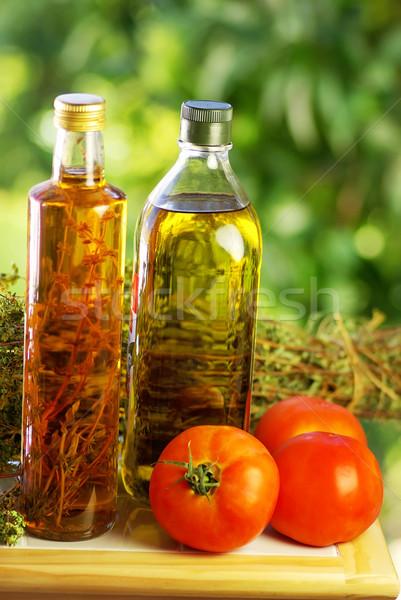 Oliva origano pomodoro luce vetro cucina Foto d'archivio © inaquim