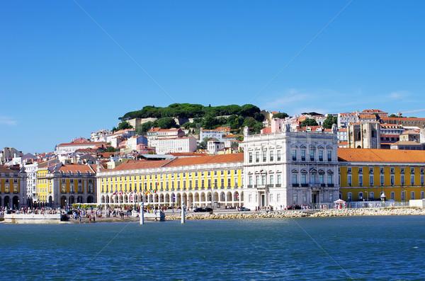 Zdjęcia stock: Krajobraz · Lizbona · placu · commerce · niebo · miasta