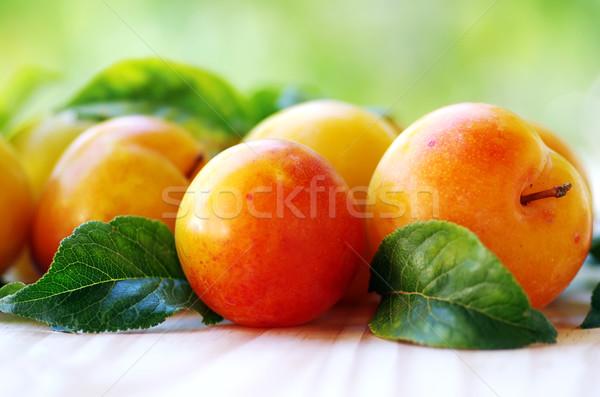 Amarelo verde folha fruto alimentação Foto stock © inaquim