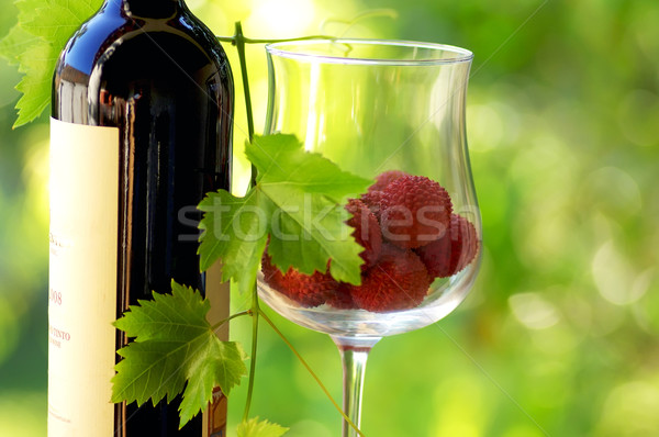 Red wine and red fruits. Stock photo © inaquim