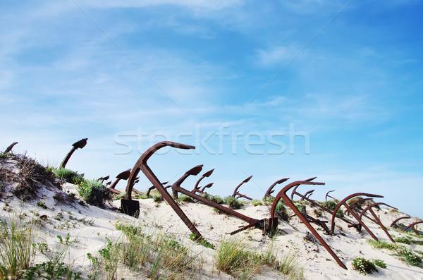 アンカー 墓地 ビーチ ストックフォト © inaquim