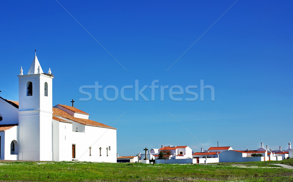 Church in Luz village. Stock photo © inaquim