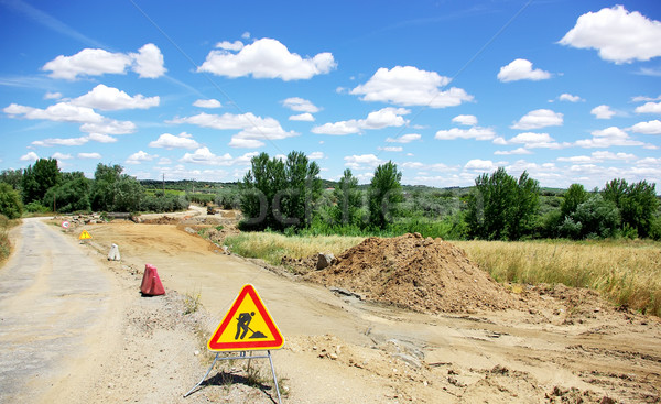 Stock photo: Road works at south of Portugal.