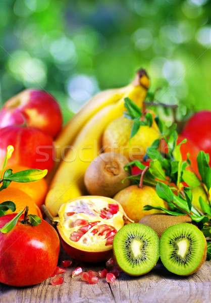 Kiwi , pomegranates and variety fruits Stock photo © inaquim