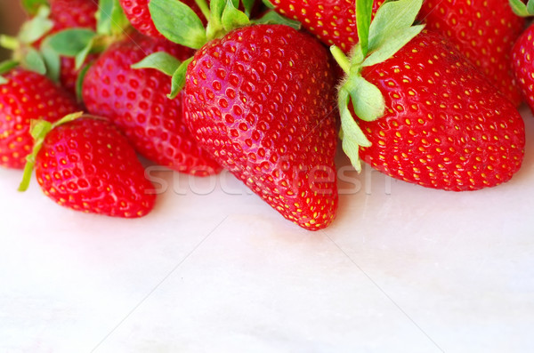 fresh strawberry on the clean  white background Stock photo © inaquim