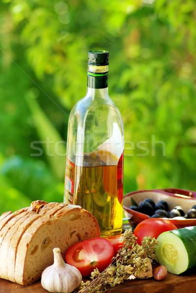 Ingredients of the  mediterranean cuisine. Stock photo © inaquim