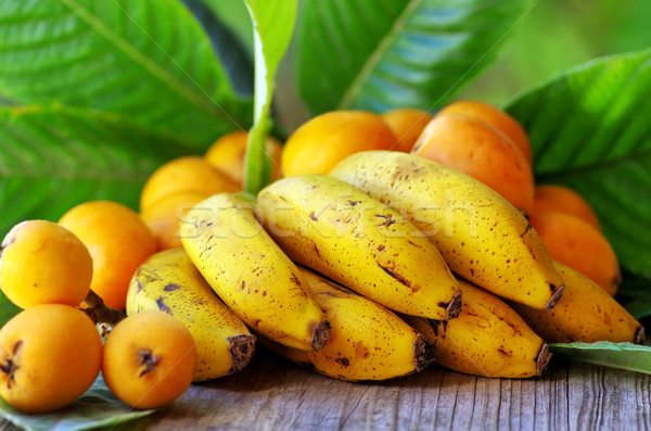 Portuguese bananas and loquats Stock photo © inaquim