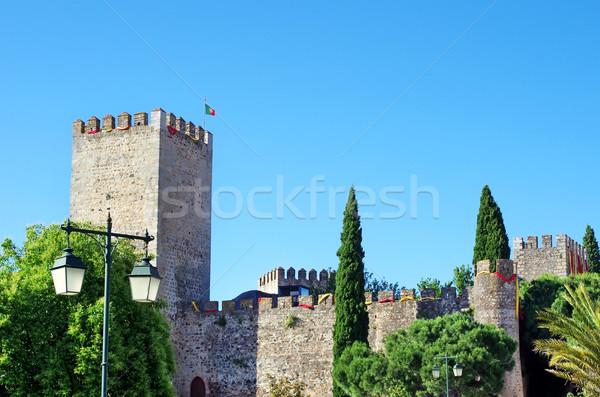 Castelo Portugal luz casa palma viajar Foto stock © inaquim