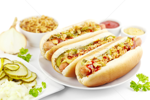 Hot dogs Stock photo © IngaNielsen