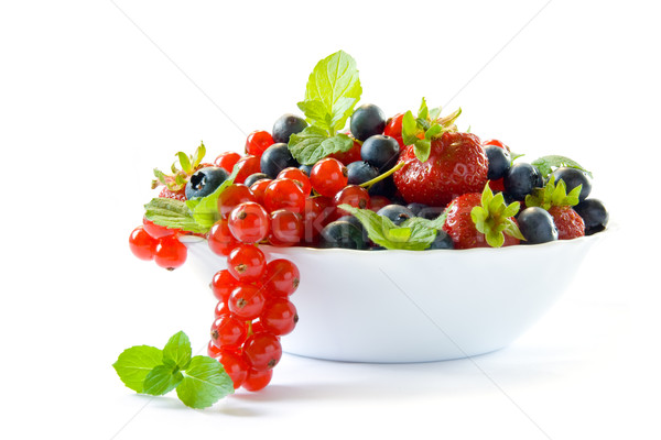 Bowl with berries Stock photo © IngaNielsen