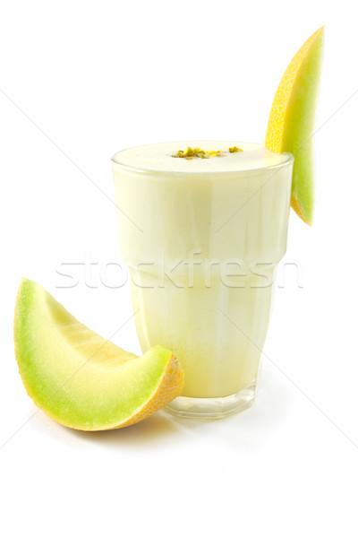 ビッグ ガラス ミルク 果物 白 新鮮な ストックフォト © IngaNielsen