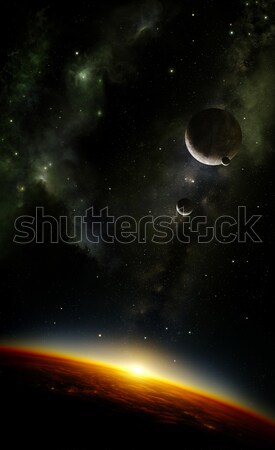 Planeten ruimte nevelvlek illustratie vreemdeling planeet Stockfoto © IngaNielsen