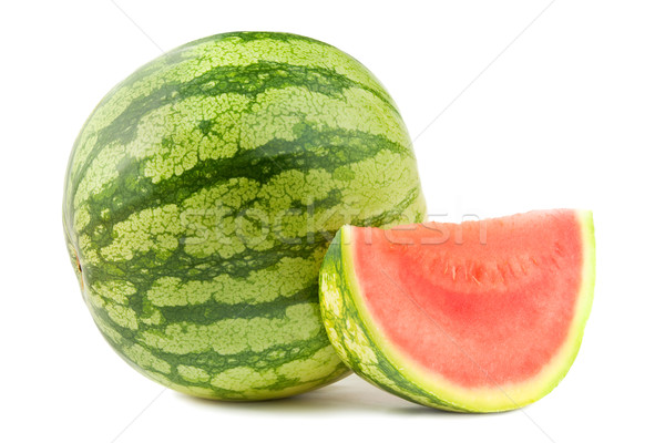 Water melon and section Stock photo © IngaNielsen