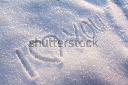 Sneeuw doopvont brieven textuur winter patroon Stockfoto © IngaNielsen